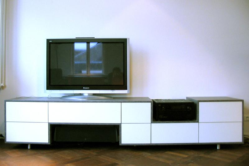 Slaapkamer Tv Kast : tv kast met uitsparing voor versterker en central ...